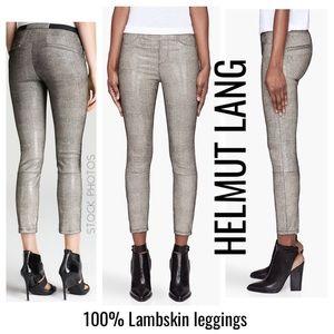 Helmut Lang // 💯 leather leggings carbon rift
